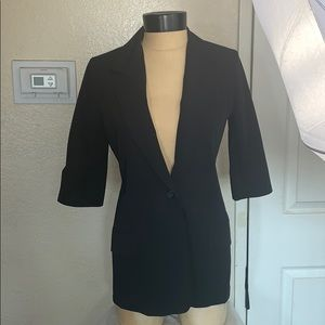 Elizabeth and James Black Gather Sleeves Blazer 2